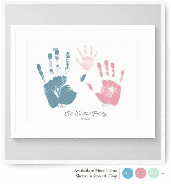 Family Handprints Art Ideas Pinterest Baby Memories