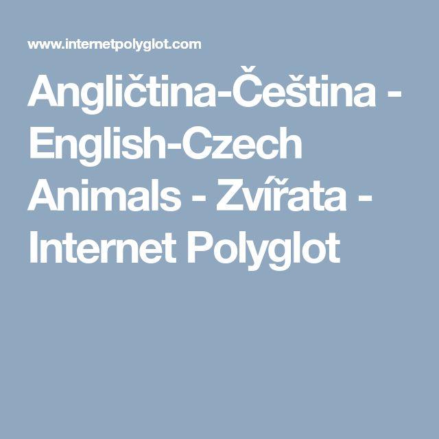 Angličtina-Čeština         - English-Czech Animals - Zvířata - Internet Polyglot