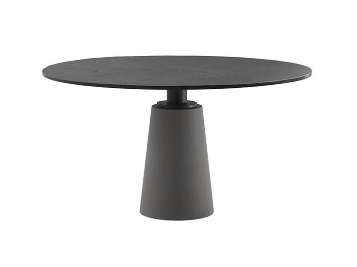 Round table MESA by Poltrona Frau | design Vignelli Associates