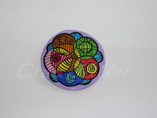 Imán decorativo, de papel maché pintado a mano (acrílico) Solicitalo AQUI! www.facebook.com/creapinturas