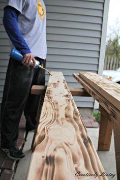 Holz altern lassen für Shabby Möbel