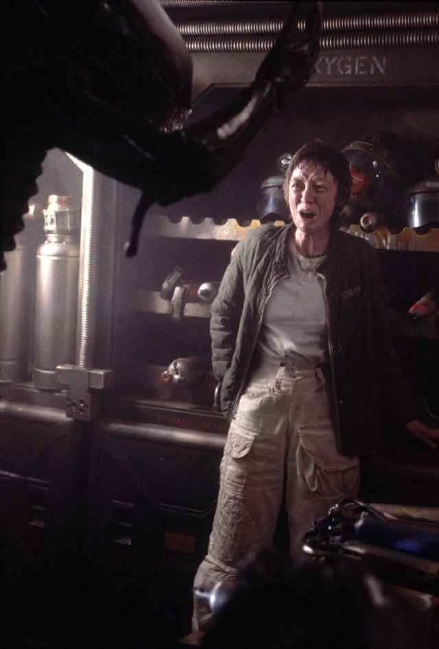 """Veronica Cartwright in """"Alien."""" Her cry during the exploding chest scene gives me chills."""