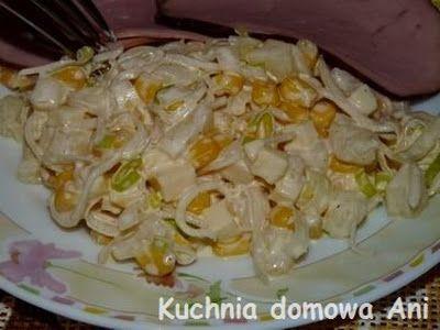 Kuchnia domowa Ani: Sałatka żółta