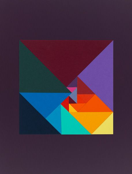Carl Kleiner's Golden ratio & friends / Square from 20 triangles