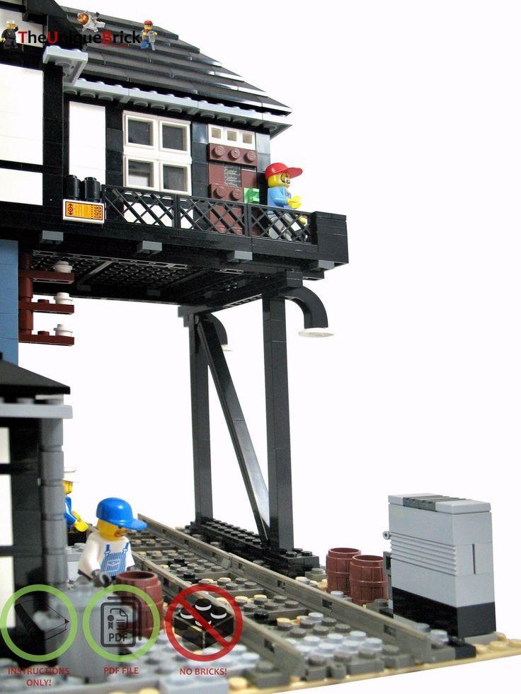PDF-Bauanleitung Eisenbahn-Stellwerk für LEGO® Steine V2