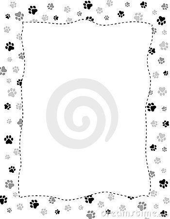 Dog Paw Print Border Template Animal Paw Prints Printable Patterns