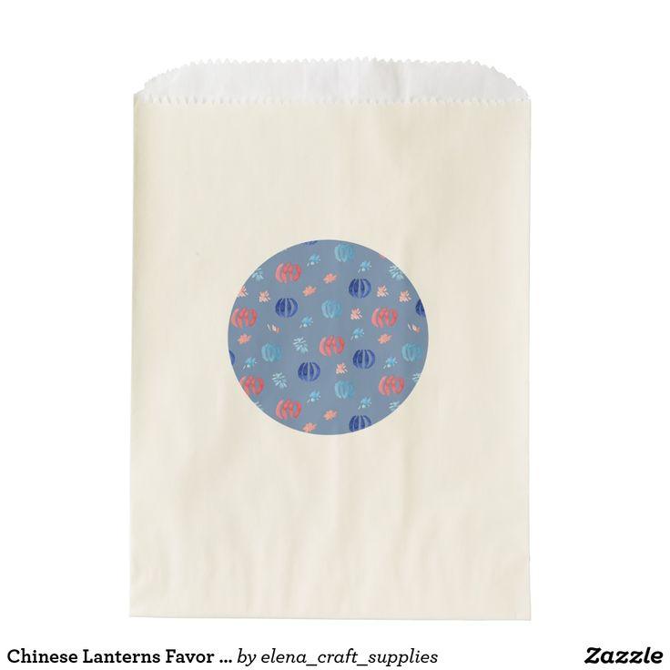 Chinese Lanterns Favor Bag