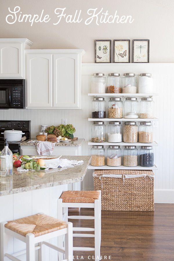 Farmhouse Holiday Series Fall Kitchen Fall Kitchen Jars