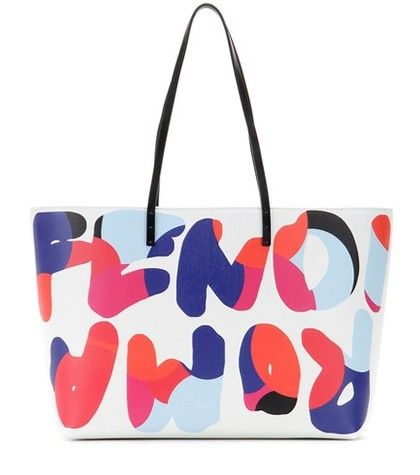 ROLL PRINTED LEATHER SHOPPER FENDI