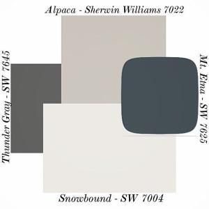 Alpaca paint color SW 7022 by Sherwin-Williams. View interior and exterior paint colors and color palettes. Get design inspiration for painting projects. by cynthia