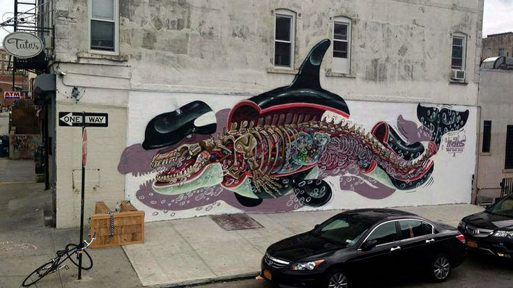 By Austrian street artist Nychos, in Williamsburg.  – Favorite Places and Spaces