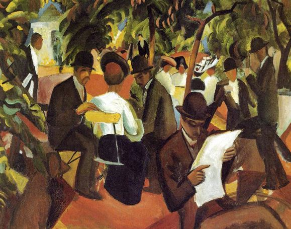 Garden Restaurant: 1912 August Macke German Expressionist Painter 1887 - 1914