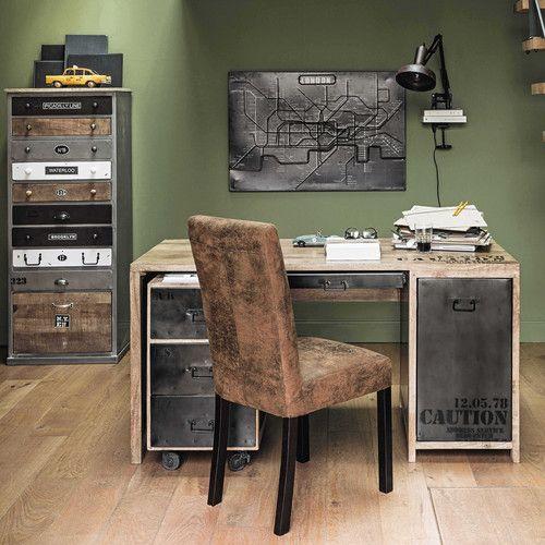 bureau en manguier manufacture maisons du monde bureau pinterest office desks and. Black Bedroom Furniture Sets. Home Design Ideas