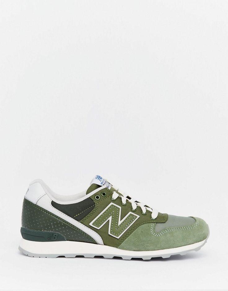 Image 2 ofNew Balance 996 Khaki Green Trainers