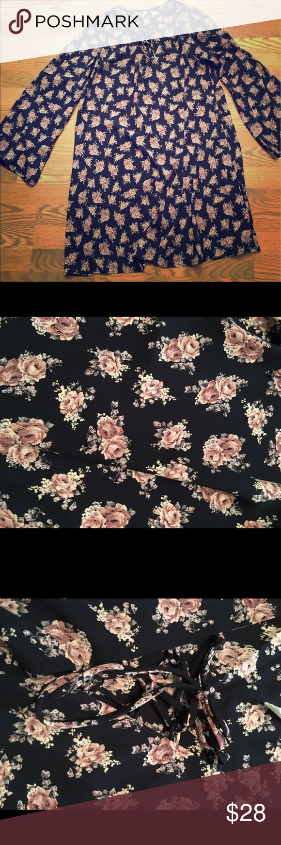 Pink Blush Floral Maternity dress Size small. Only worn once. Navy with pink/mauve floral print. Pink Blush Dresses