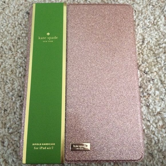 Kate Spade iPad Air 2 Rose Gold Case I absolutely love this case! It is so cute! But I have an iPad Air (not Air 2) and I thought it would fit! Never used! Perfect condition! kate spade Accessories Tablet Cases