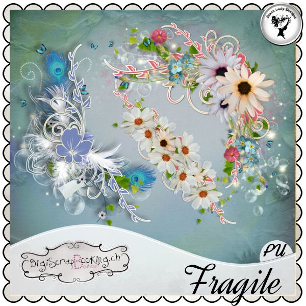 Fragile - Embellishments#2 by Black Lady Designs