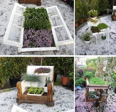 Upcycling in the garden....
