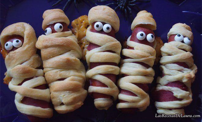 Aprende a hacer unas momias de salchichas para #Halloween #Recetas