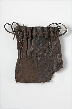 Leather purse, Stockholm, Sweden.  Medieval