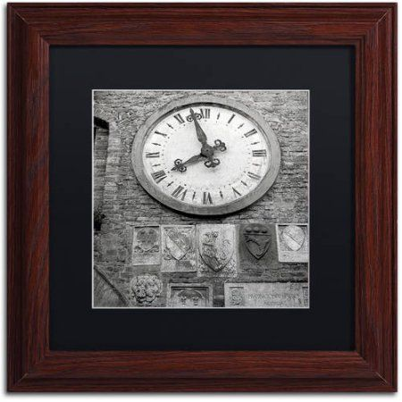 Trademark Fine Art Il Grande Orologio Iii Canvas Art by Alan Blaustein, Black Matte, Wood Frame, Gray