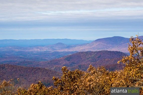 View of Georgia's Southern Appalachian Mountains from the Springer Mountain Summit