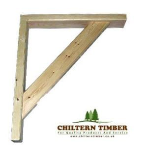 how to make porch gallows brackets