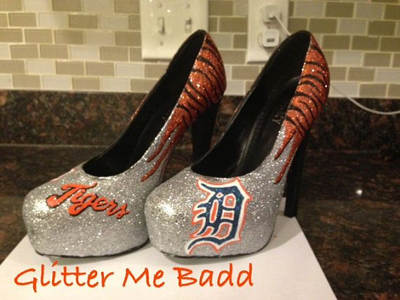 Tiger striped clawed Glitter Heel by GlitterMeBadd on Etsy, I think I need a pair of these