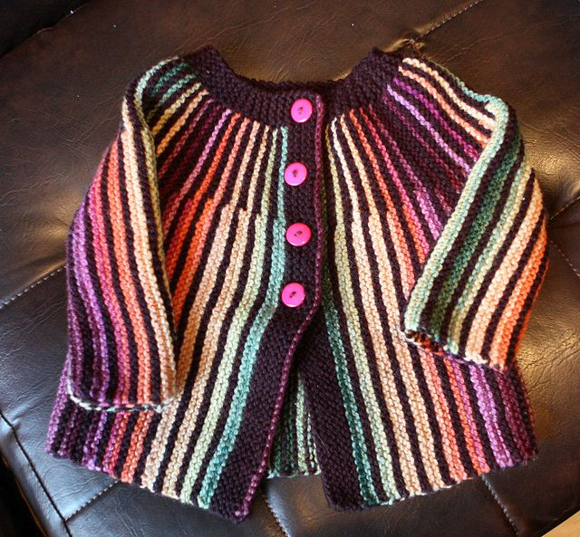 I would totally wear this amazing and colourful baby sweater!