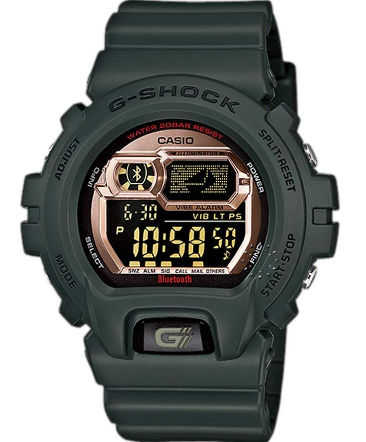 CASIO G-Shock Digital Bluetooth Limited Edition Rubber Strap Τιμή: 199€ http://www.oroloi.gr/product_info.php?products_id=36874