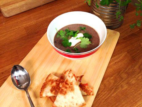 Black bean soup med quesadillas   Recept.nu