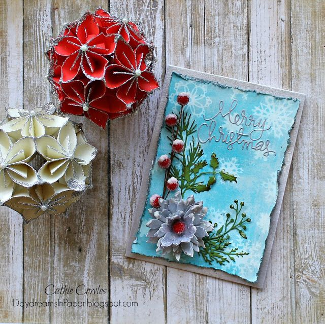 Daydreams In Paper: Simon Says Stamp Monday Challenge - Let There Be Snow