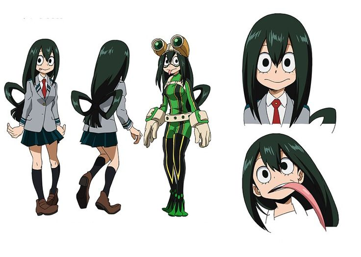 Tsuyu from BNHA. Not sure if I want to do school or hero uniform version yet.