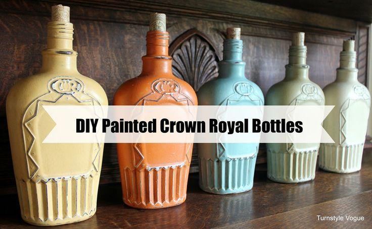 DIY: More Colorful Crown Royal Bottle Makeovers
