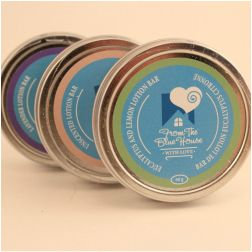 These natural, from scratch Lotion Bars  made by From The Blue House are great to keep dry skin at bay!