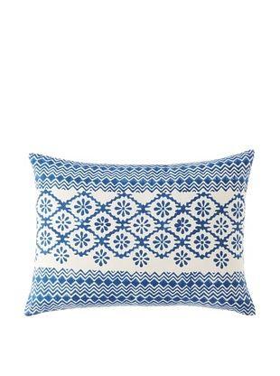 Filling Spaces Adwita Pillow (Blue/White)