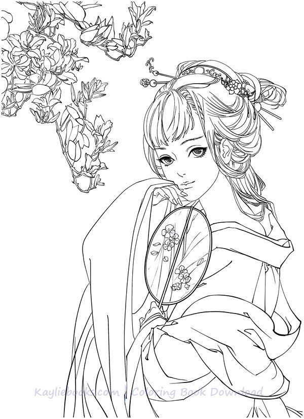 Download Classic Chinese Portrait Coloring Book Pdf Printable Hd Book Page Art Coloring Books Designs Coloring Books