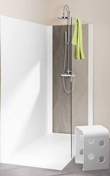 dusche aus acrylstein fugenlos ohne silikon badetempel pinterest silikon. Black Bedroom Furniture Sets. Home Design Ideas