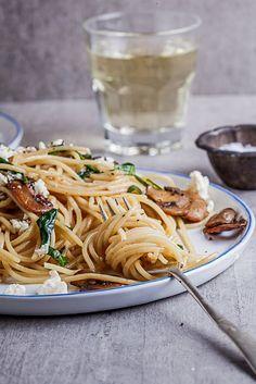 spinach spaghetti garlic butter mushrooms spinach recipes spaghetti ...