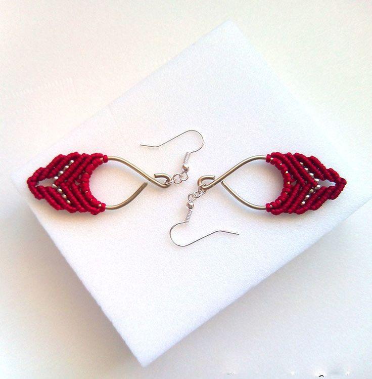 Μακραμέ σκουλαρίκια - Μικρά- Ρομαντικά - Boho - Gypsy από Thedancingcord στο jamjar