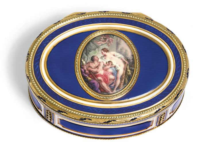 a gold and enamel snuff box hanau circa 1780 85 of oval form the lid inset with an enamel. Black Bedroom Furniture Sets. Home Design Ideas