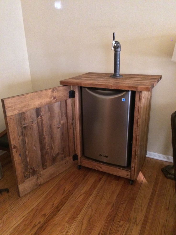 Diy kegerator cabinet cabinets matttroy Home bar furniture with kegerator