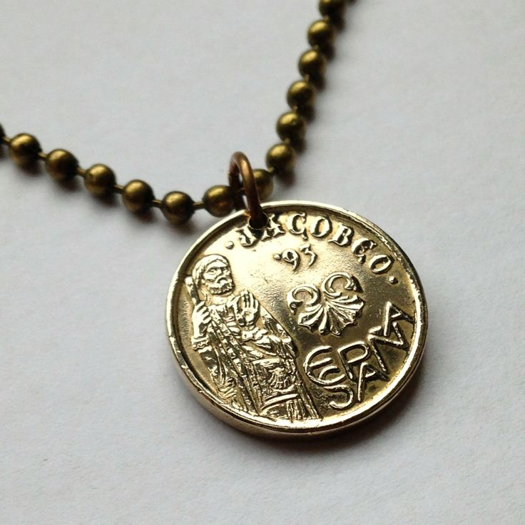 1993 spain espa a 5 pesetas coin pendant charm necklace