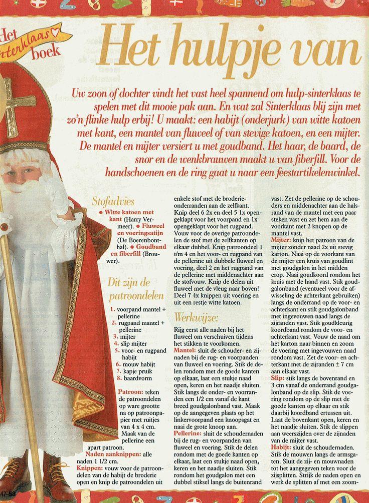 patroon 1 van 2 voor een hulp Sinterklaar, komt uit een oude Libelle