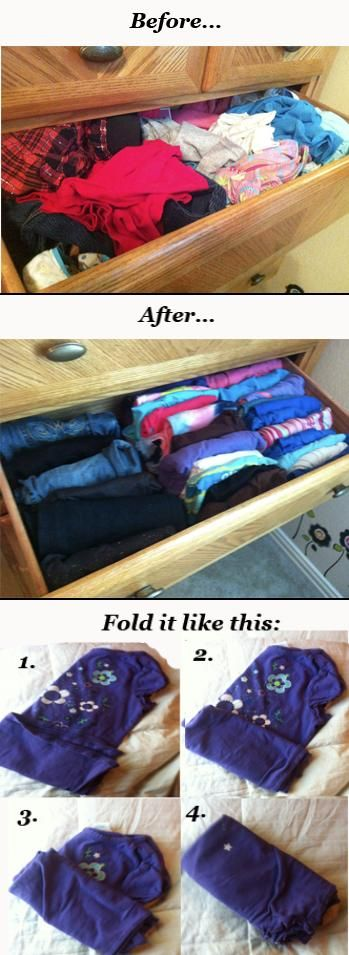 Kids Dresser organization!  It makes it much easier for them to pick out their clothes!!!  #Kids #Organization #Organize  http://therepowoman.com/kid-friendly-organization-tips/