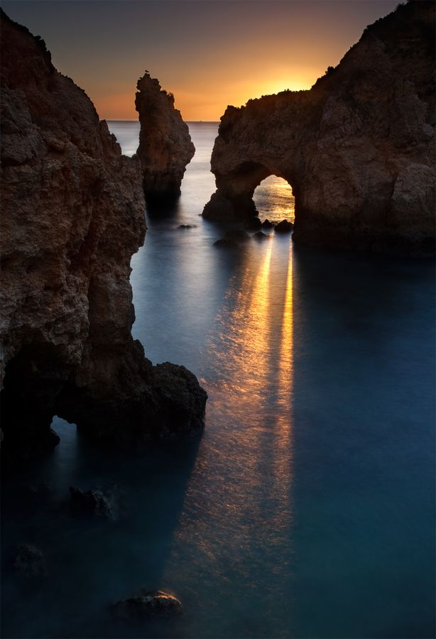 Arch Light......Early morning light breaking through the Arch, at Paria de Piont, Portugal