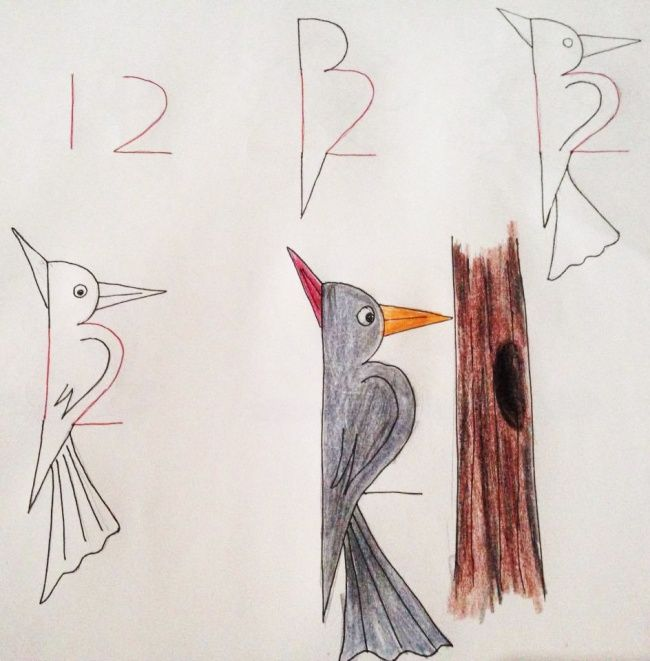 How to teach your child to draw using numbers