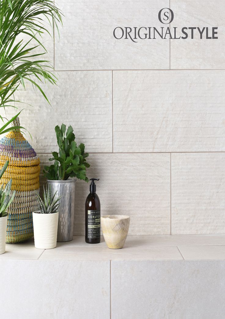 Pescara Sabbia from Original Style's Tileworks collection. Smooth or decorated? Why not use both for interest or to create texture  for your bathroom walls.