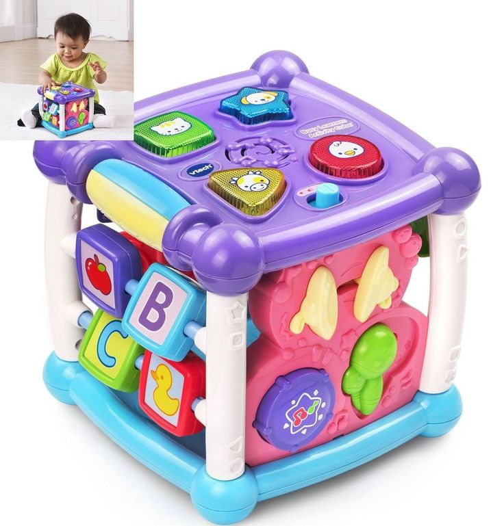 Developmental Baby Toys Busy Learners Activity Cube Educational Toy Light-Up New