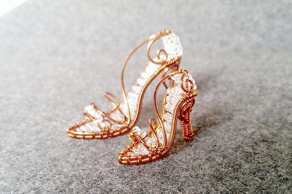 Módne topánky prívesok medený drôt v kombinácii Japonca od MakeMyStyle